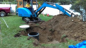 photos of cesspool services being done